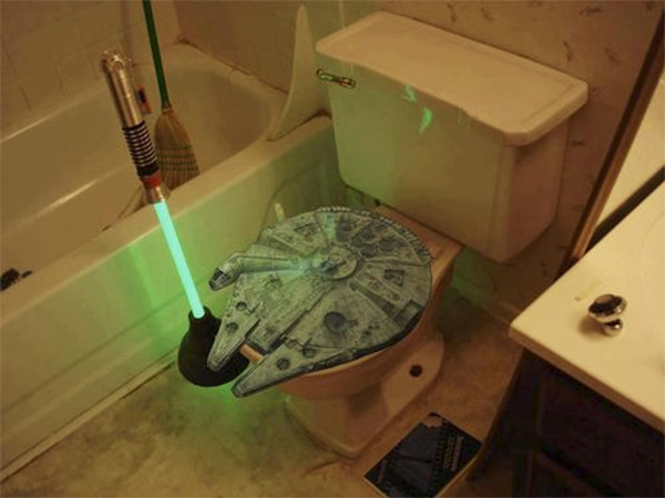 This Light Saber Toilet Plunger