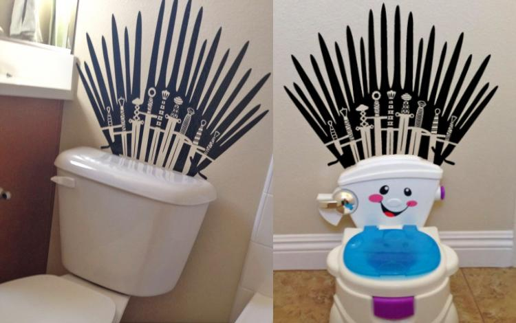 Game of Thrones Toilet Wall Decal