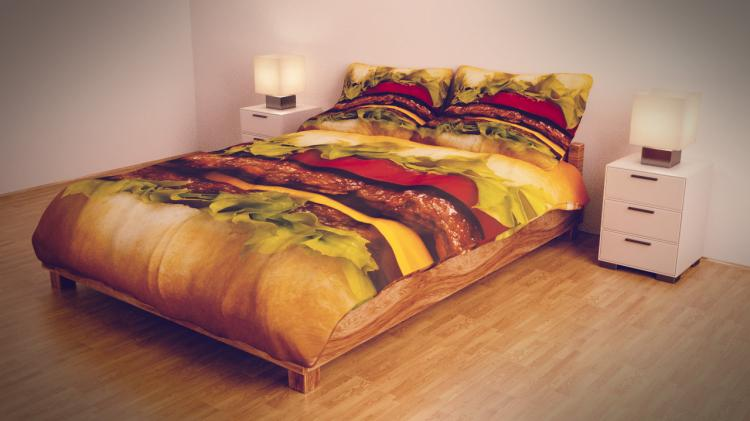 Cheeseburger Bed Sheets