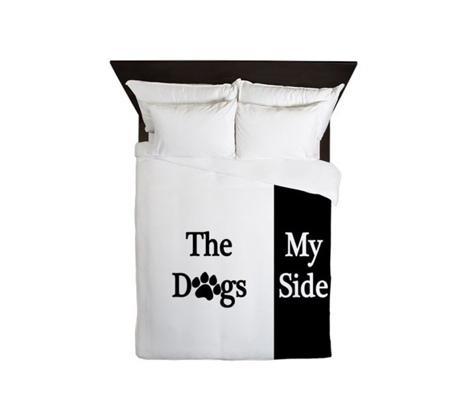 My Side - Dogs Side - Duvet Cover