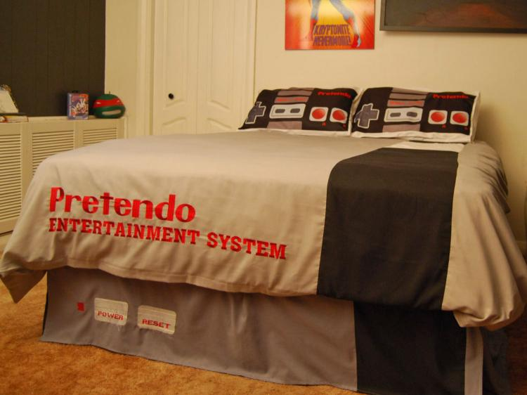 Nintendo Console Bed Sheets