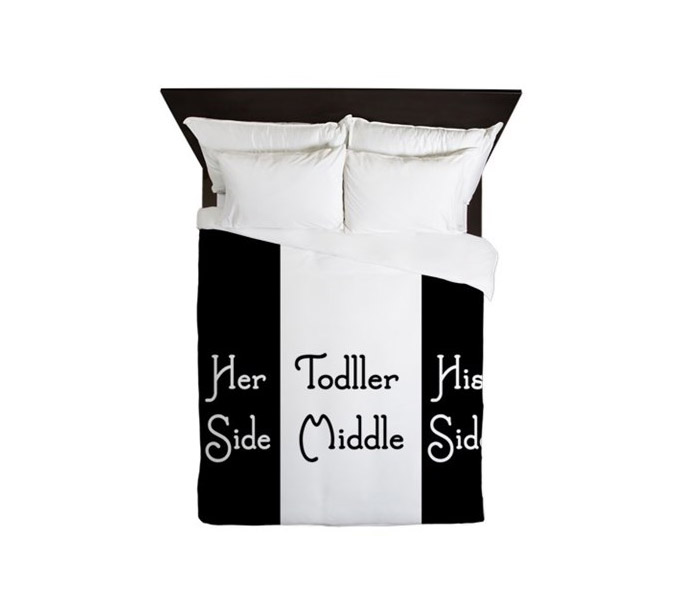 Merveilleux Her Side   His Side   Toddler Middle   Duvet Cover