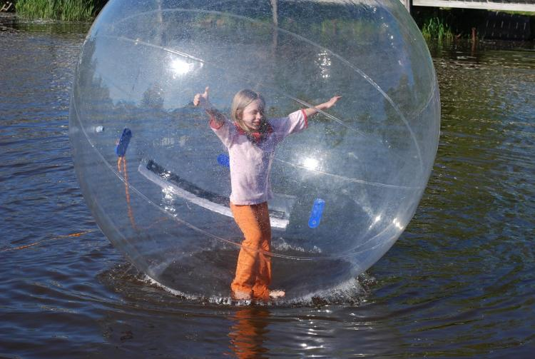 Inflatable Giant Balls Let You Walk On Water