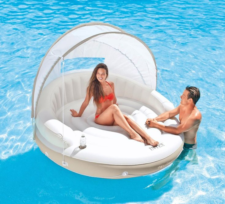 Floating Canopy Island Inflatable Lounge