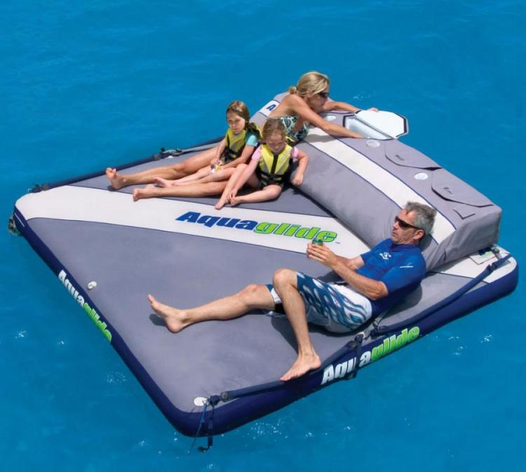Giant Floating Mattress With Cooler