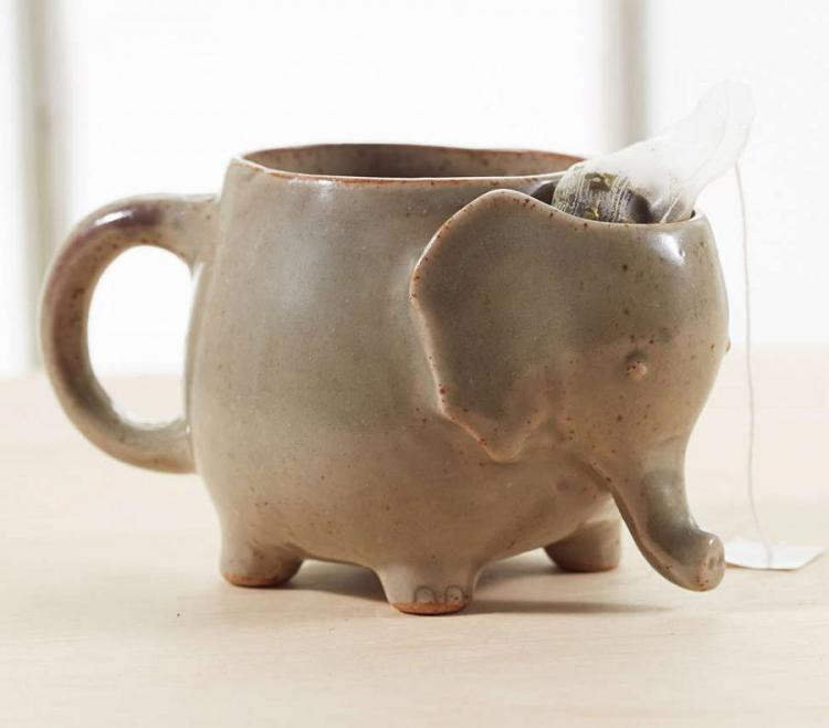 Elephant Tea Mug That Holds Your Used Tea Bag In The Head