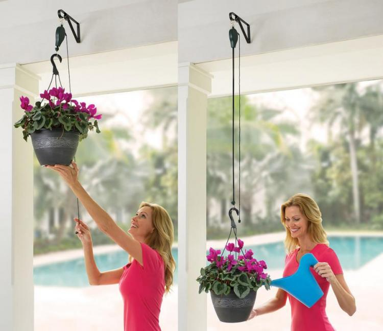Plant Caddie: A Plant Pulley System For Watering High-Up Plants