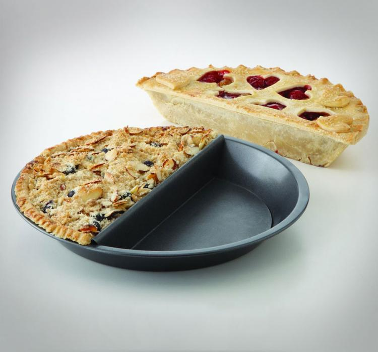 Split Pie Pan Lets You Make 2 Kinds Of Pie At Once