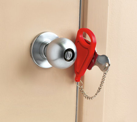 Temporary Portable Door Lock For Traveling Alone