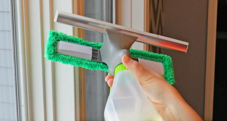 3-in-1 Window Cleaner With Spray Bottle, Wiper, and Squeegee