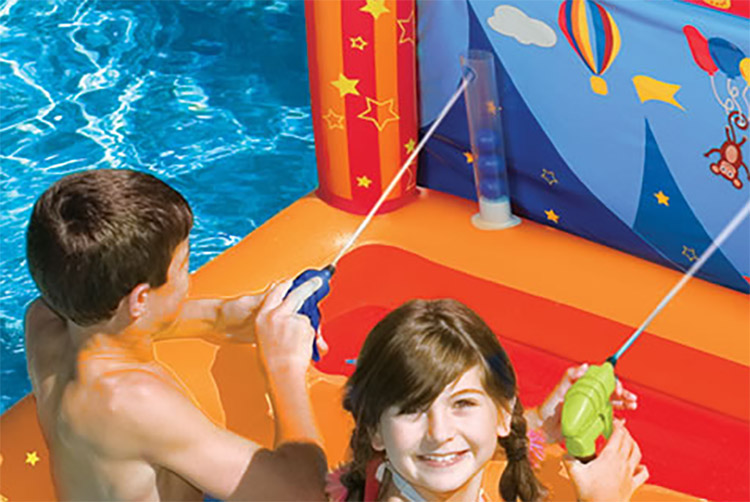 Pool Version of classic circus water shooting game - Circus Blaster Inflatable water target game
