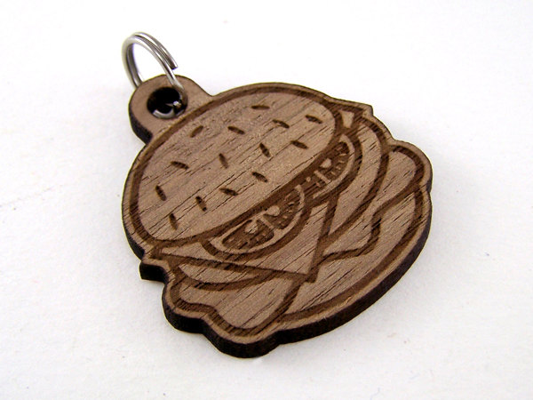 Cheeseburger Etched Dog Tag