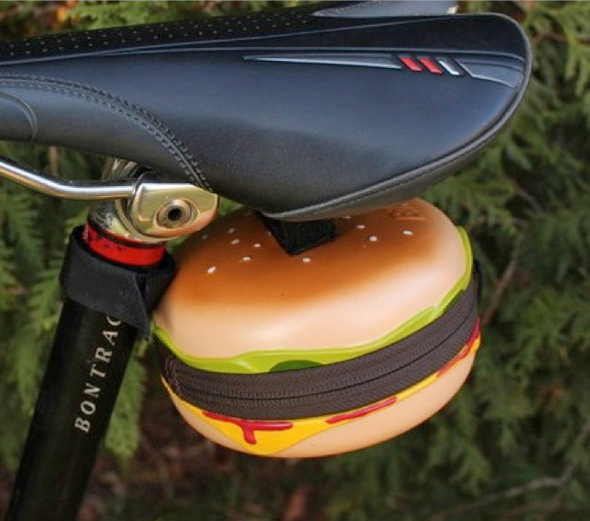 Cheeseburger Bicycle Saddle Bag