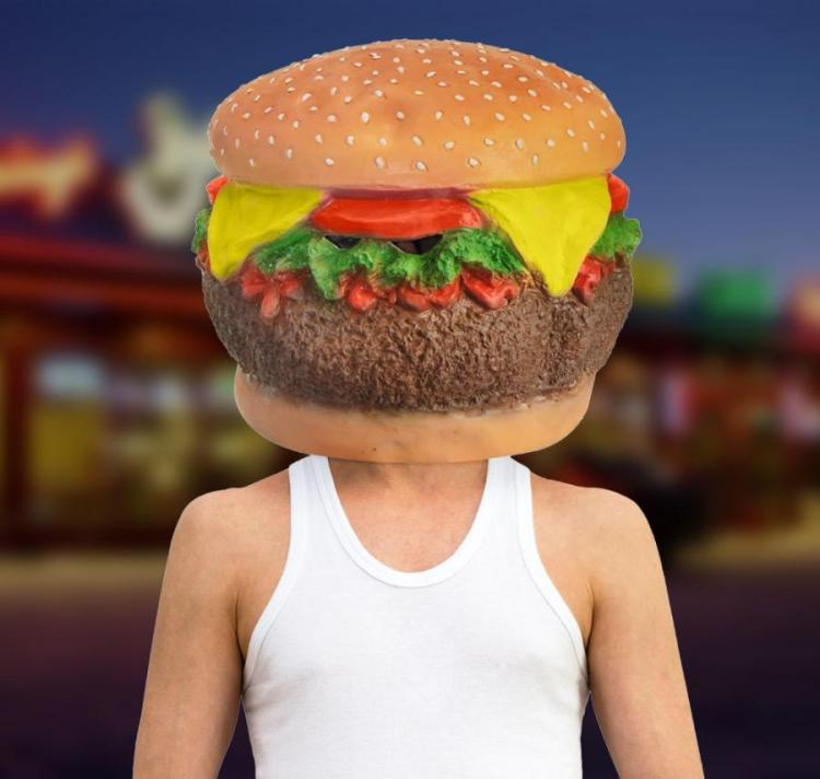 Giant Cheeseburger Head Mask