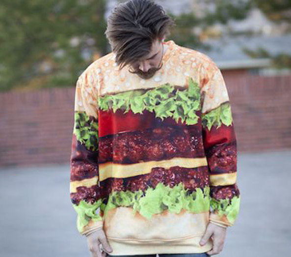 Cheeseburger Graphic Sweatshirt