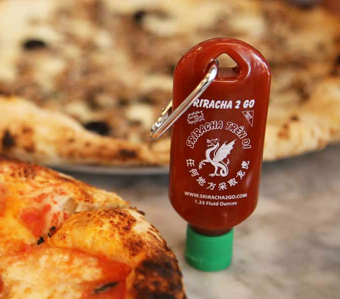 Sriracha2Go: Tiny Refillable Sriracha Bottle Keychain