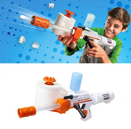 Toy Gun Makes 350 Spitballs From One Roll Of Toilet Paper