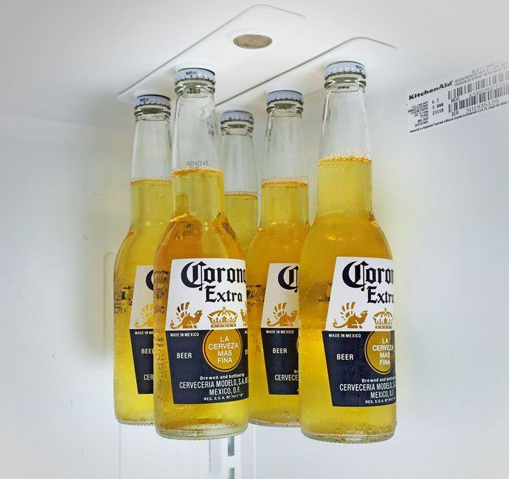 BottleLoft: Magnetic Beer Bottle Attachment For Your Fridge