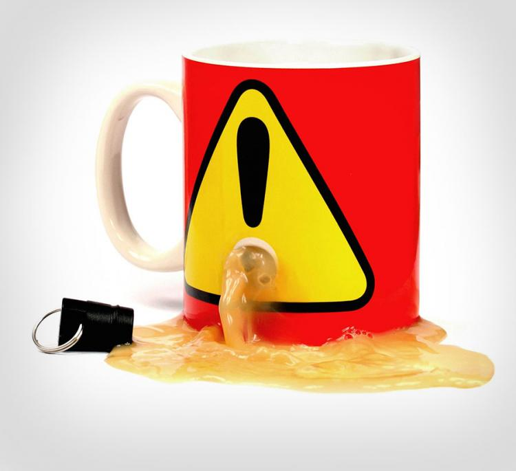 Plug Mug: Stops Others From Using Your Coffee Mug
