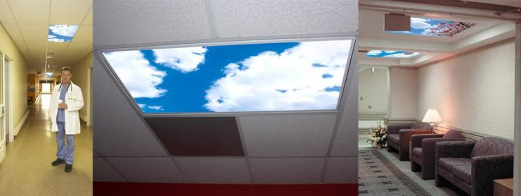 Blue Sky Panel Light Fixture Cover