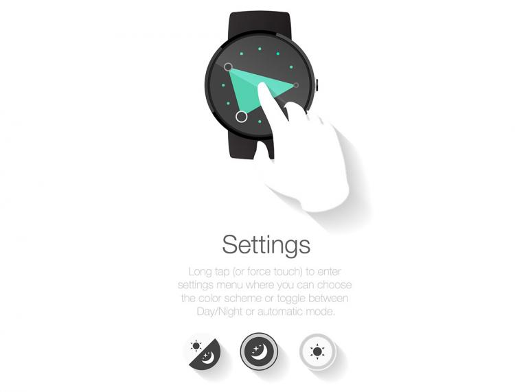 3ANGLE Smart Watch - Changing Triangle Tells Time