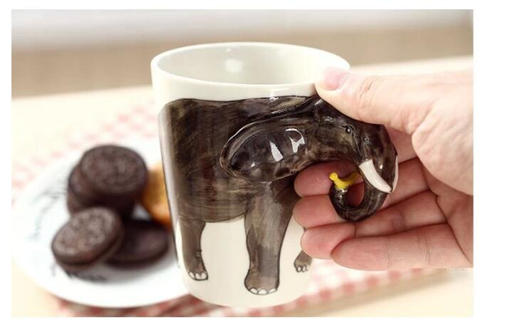 3D Animal Ceramic Mugs - 3D Elephant Mug