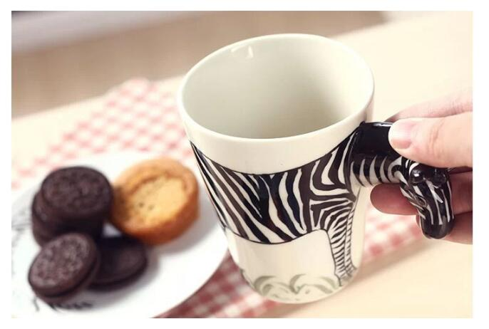 3D Animal Ceramic Mugs - 3D Zebra Mug