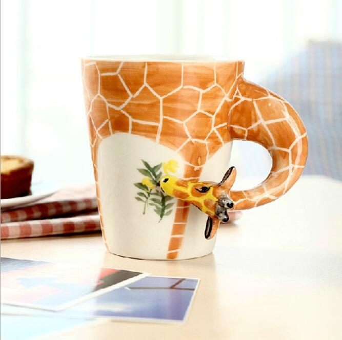 3D Animal Ceramic Mugs - 3D Giraffe Mug