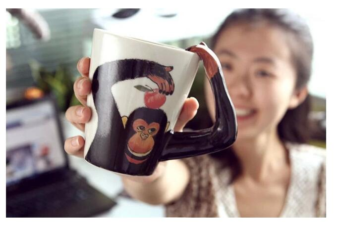 3D Animal Ceramic Mugs - 3D Monkey Mug