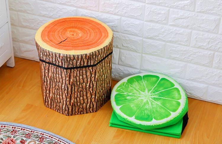 3D Fruit Storage Organizer And Ottoman   3D Fruit Ottoman And Toy Box