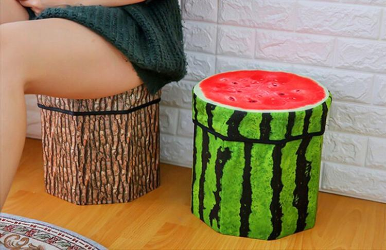 3D Fruit Storage Organizer and Ottoman - 3D Fruit Ottoman and toy box