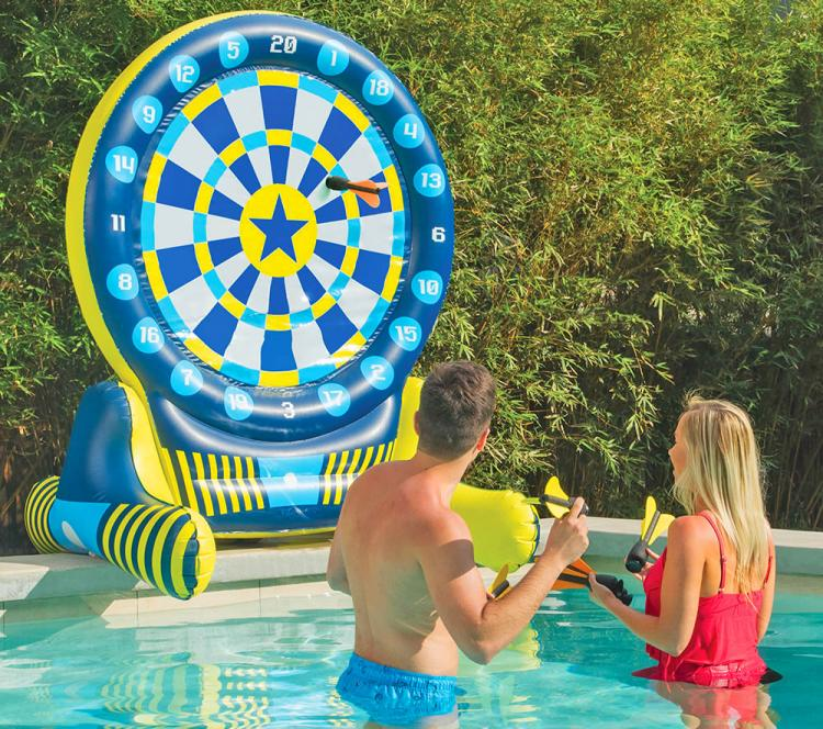 6 Foot Inflatable Giant Backyard Dart Board - Huge floating pool dart board