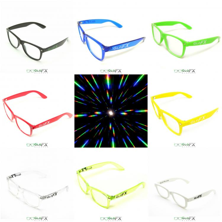 Light Enhancing Concert Glasses - Laser Show Glasses Enhances Lights - Trippy Light Glasses