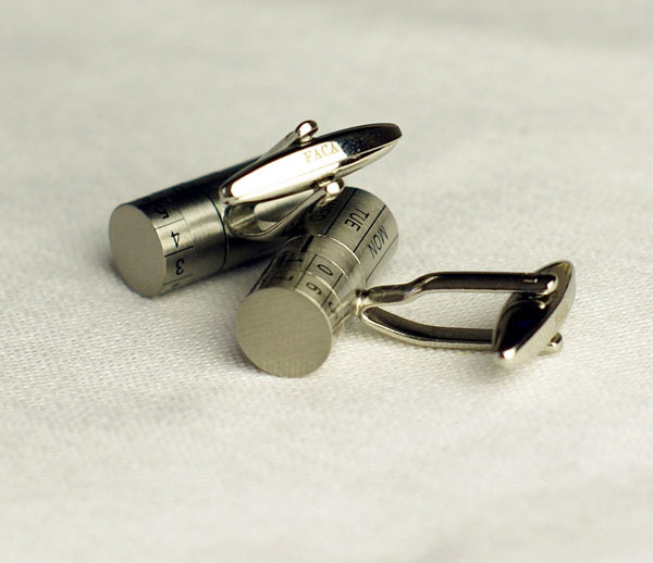 Adjustable Date Cufflinks - Calendar Cufflinks