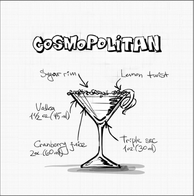 Coloring Book Of Booze - Adult Cocktail Coloring Book