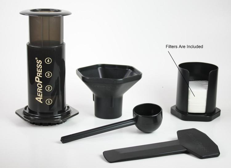 AeroPress Hand Powered Coffee Maker - Camping Single Cup Coffee Maker