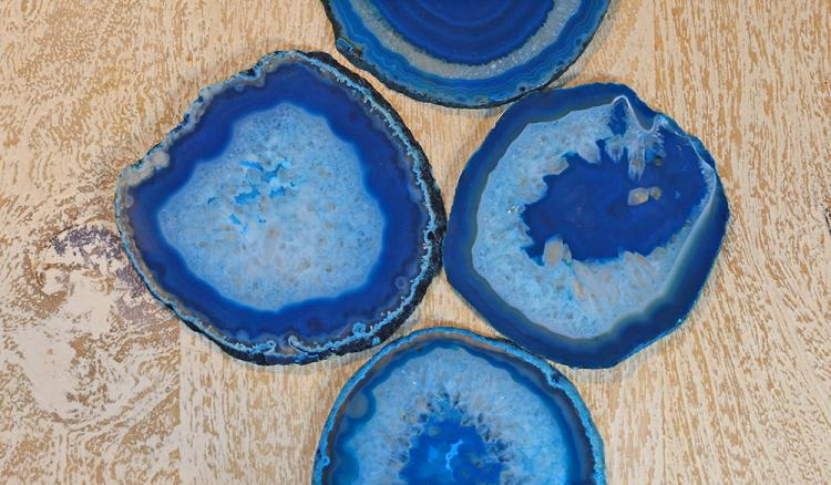 These Coasters Are Made From Real Sliced Geodes