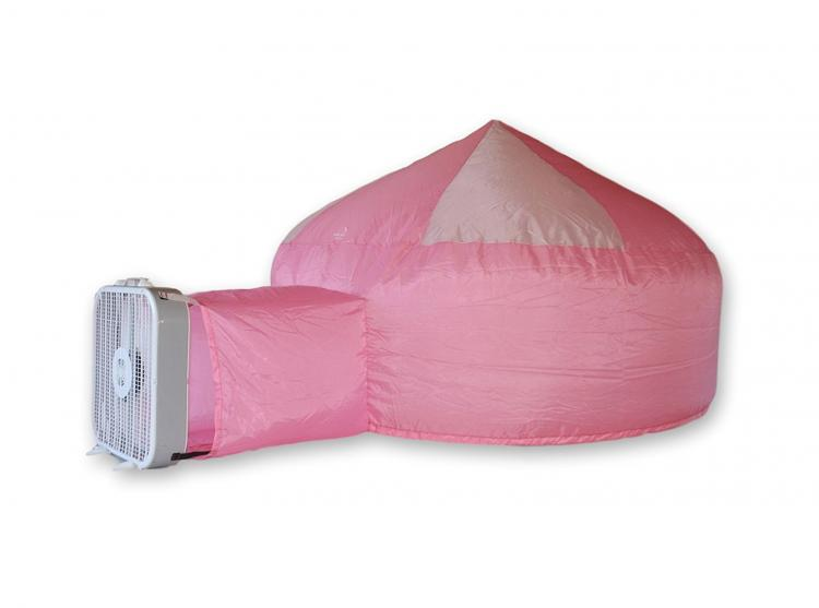 Inflatable Air Forts - Box Fan Air Fort - Uses fan to inflate in just seconds - Blow-up Kids play fort