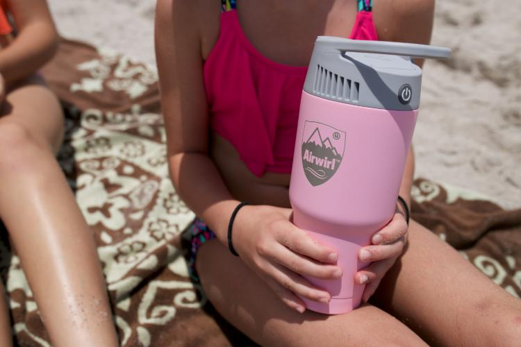 Airwirl Personal Air-Conditioner That Looks Like a Coffee Mug - Mini Travel A/C Unit Fits into any cupholder