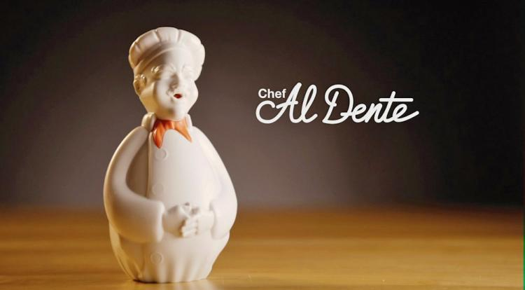 Chef Al Dente Singing Chef Pasta Timer - Floating chef speaker gets perfectly cooked pasta every-time