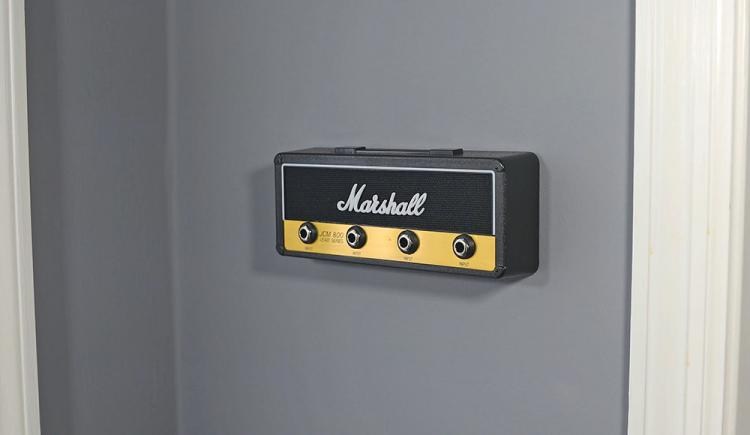 Marshall Amplifier Key Holder - Guitar amplifier key-chain holder - Guitar themed wall mount key holder