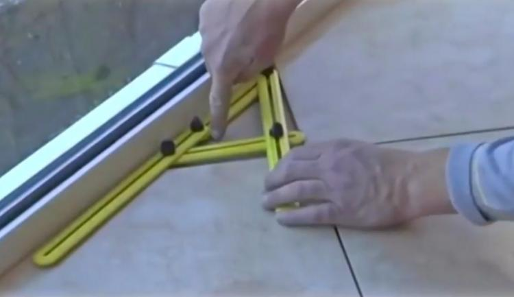 Angle-Izer Measuring Tool Gets The Perfect Angle For Cutting Wood, Tile, Brick