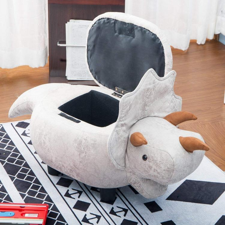 Animal Shaped Storage Ottomans and Stools - Cute animal ottoman with flip-up storage bin