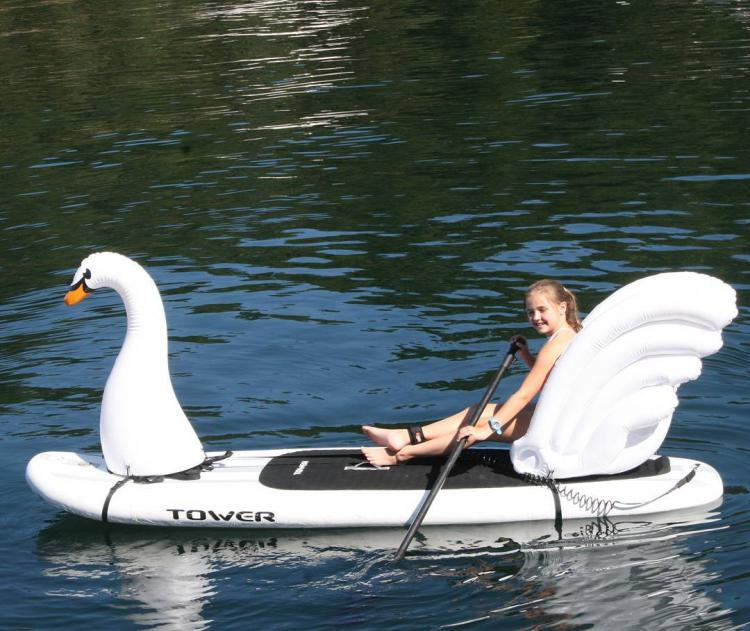 Stand-up Paddle-Board Floats Turn Your Board Into a swan - swan floats for SUP