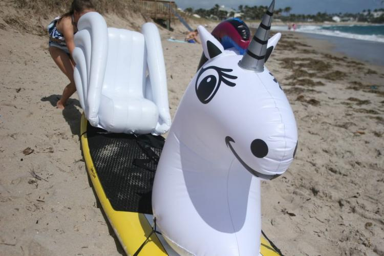 Stand-up Paddle-Board Floats Turn Your Board Into a unicorn - unicorn floats for SUP