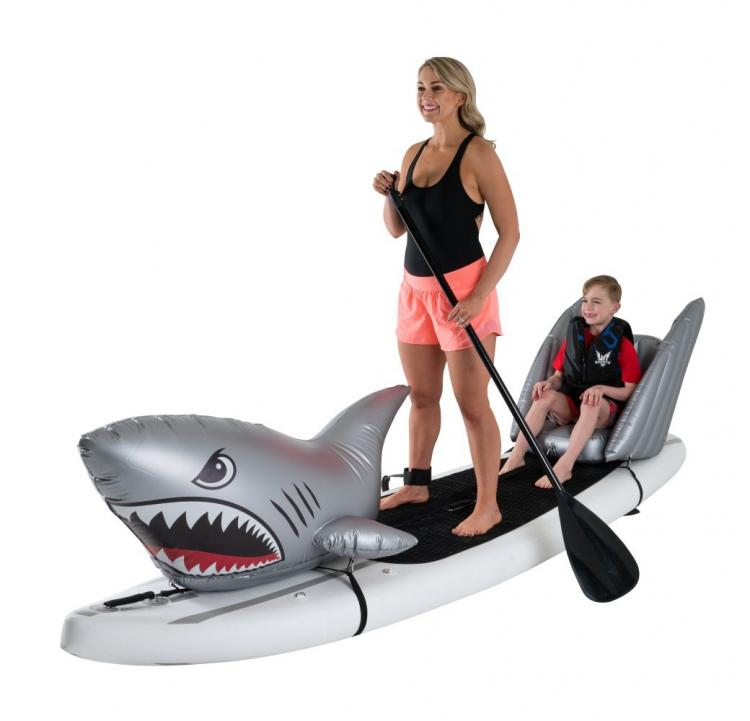 Stand-up Paddle-Board Floats Turn Your Board Into a shark - shark floats for SUP