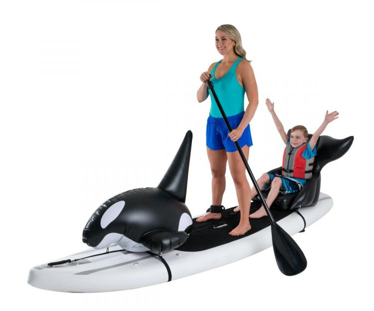 Stand-up Paddle-Board Floats Turn Your Board Into a killer whale - killer whale floats for SUP