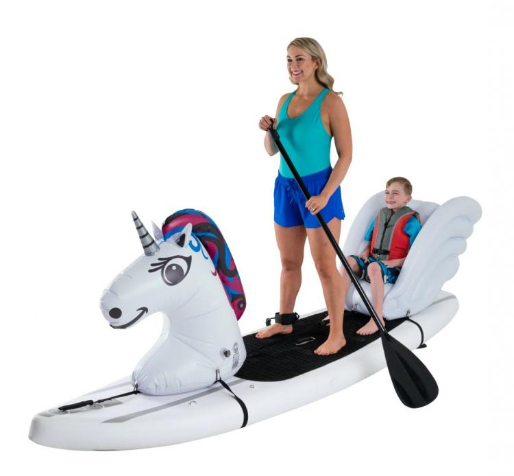 Stand-up Paddle-Board Floats Turn Your Board Into a unicorn- unicorn floats for SUP