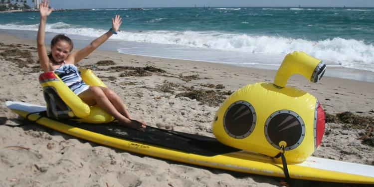 Stand-up Paddle-Board Floats Turn Your Board Into a submarine - submarine floats for SUP