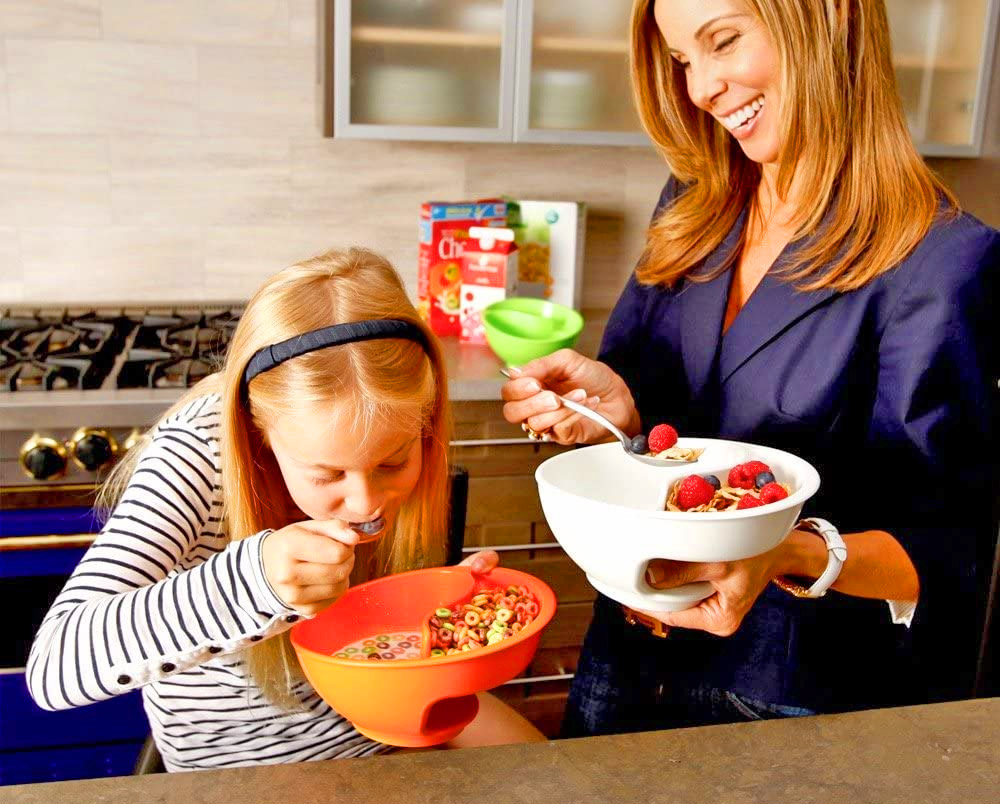 Genius Cereal Bowl Separates Your Milk and Cereal To Prevent Sogginess - Anti-soggy cereal bowl